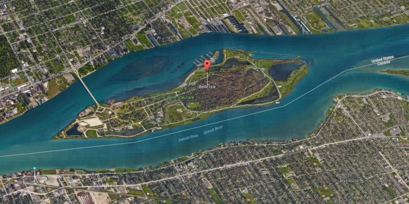 Belle Isle Arial View